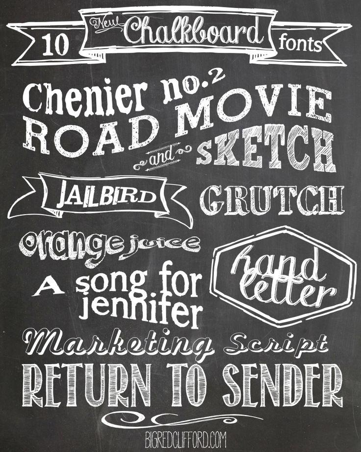 Why not enjoy ten free downloadable Chalkboard fonts