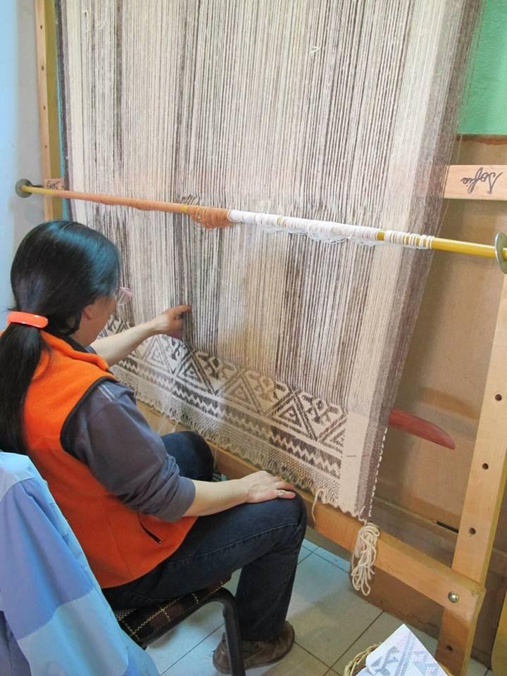 tejedoras de telar Mapuche