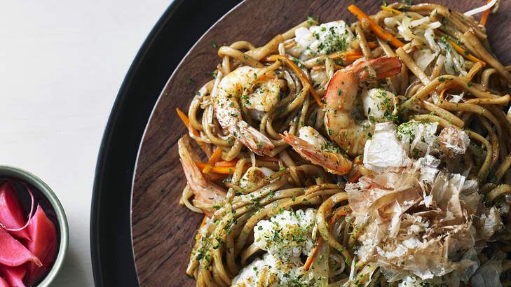 Party food: BBQ noodles.