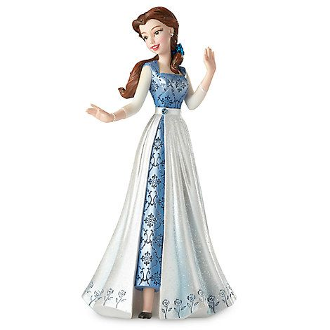 Belle in Blue Dress Couture de Force Figurine by Enesco - Beauty and the Beast