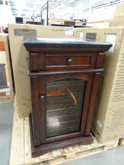 Costco Wine Cooler Cabinet | really nice furniture at Costco and this  refrigerated wine cabinet .