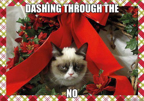 See more Grumpy Cat xmas memes http://www.personalise.co.uk/blog/grumpy-cat-christmas-memes/