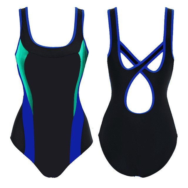 2017 New U-Neck women's swimming suit Sexy Female Triangle body suit tracksuits Swimwear sport costumes for women Sports suit