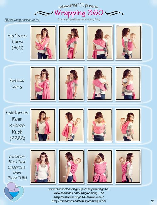Babywearing 102 — Babywearing 102 Presents: Wrapping 360! Check out some of the most common carries from all angles.