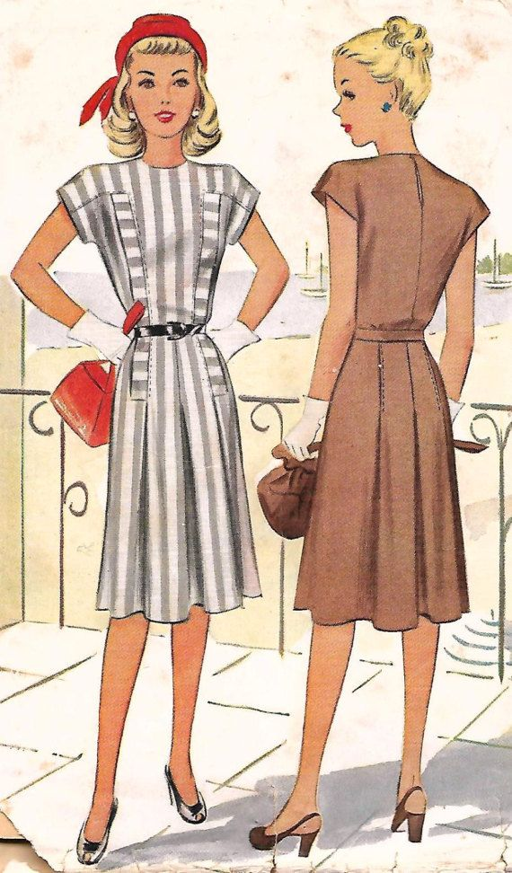 McCalls Dress Pattern 6470  UNCUT and Factory by RetroMarketplace