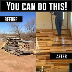Build your own wood pallet flooring. Looks just as cool as bamboo, probably half the cost. Website: http://abuildingweshallgo.blogspot.com/2013/05/the-art-of-pallet-wood-flooring.html?m=1