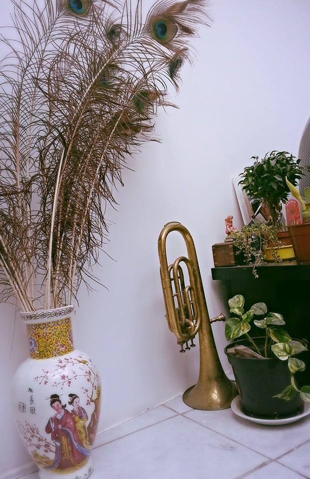 ma maison plumes de paon vase ancien deco ma maison pinterest d co et vase. Black Bedroom Furniture Sets. Home Design Ideas