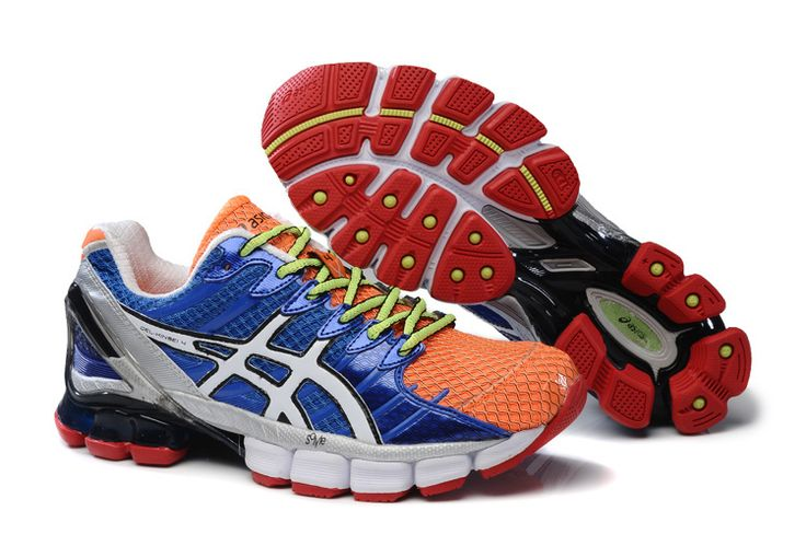 Cheap Cute Asics Gel Kinsei 4 Mens Prime Blue Total Crimson Volt Running Shoes Sale Online