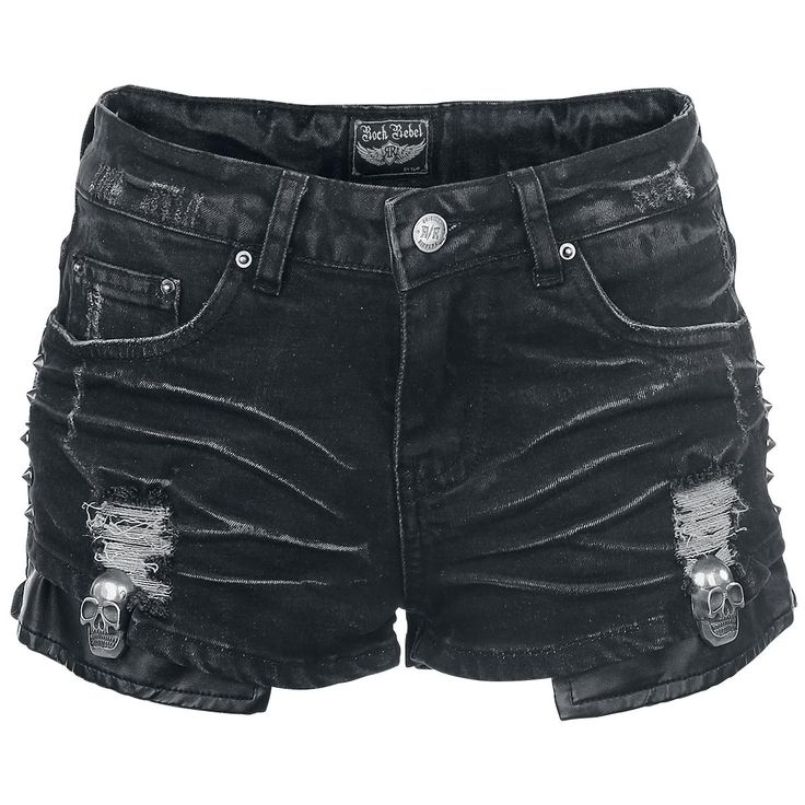 Emblazoned Shorts by Rock Rebel by EMP