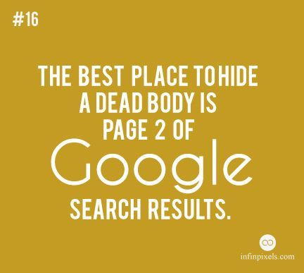 If you are not in 1st page, you are not visible.  #rank #google #seo #seodenver #seoboulder #searchengine