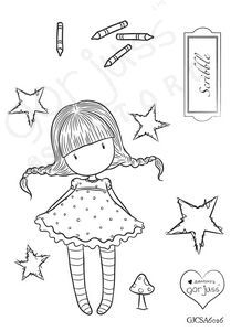 Gorjuss A6 Clear Stamp - Scribble -