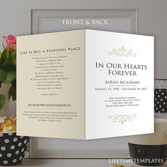 51 best Funeral Program Templates images on Pinterest Templates - memorial service invitation template