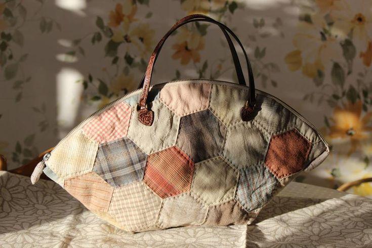 Сумочка в японском стиле - Текстильные Фантазии: интернет-магазин ткани для пэчворка и квилтинга - купить ткань из 100% хлопка (Москва)