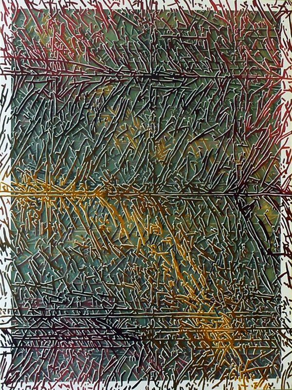czwarty wymiar - strona A - akryl na czterech warstwach folii, 120/160cm /fourth dimension - side A - acrylic on four layers of foil, 47/63inch http://www.facebook.com/cin3k88/ na sprzedaż/for sale