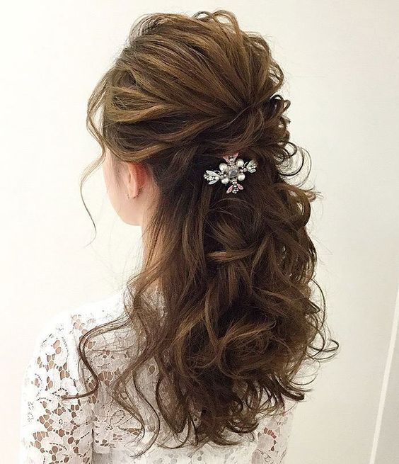 35 Gorgeous Wedding Hairstyles Which Are Half Up: Gorgeous Half-Up Half-Down Hairstyles