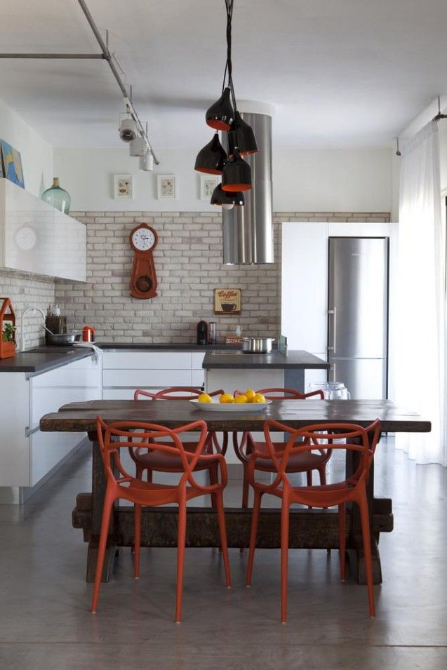 Kitchen and dining room - masters chairs - Industrial chic