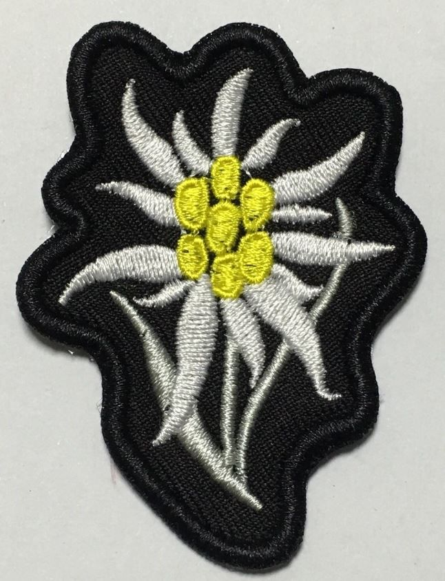WWII GERMAN WH HEER MOUNTAIN TROOPS EDELWEISS SLEEVE INSIGNIA PATCH