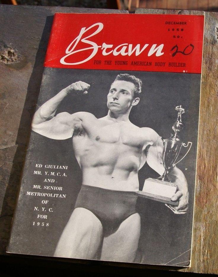 vtg 1958 BRAWN MAGAZINE body building posing gay interest beefcake man jockstrap   eBay