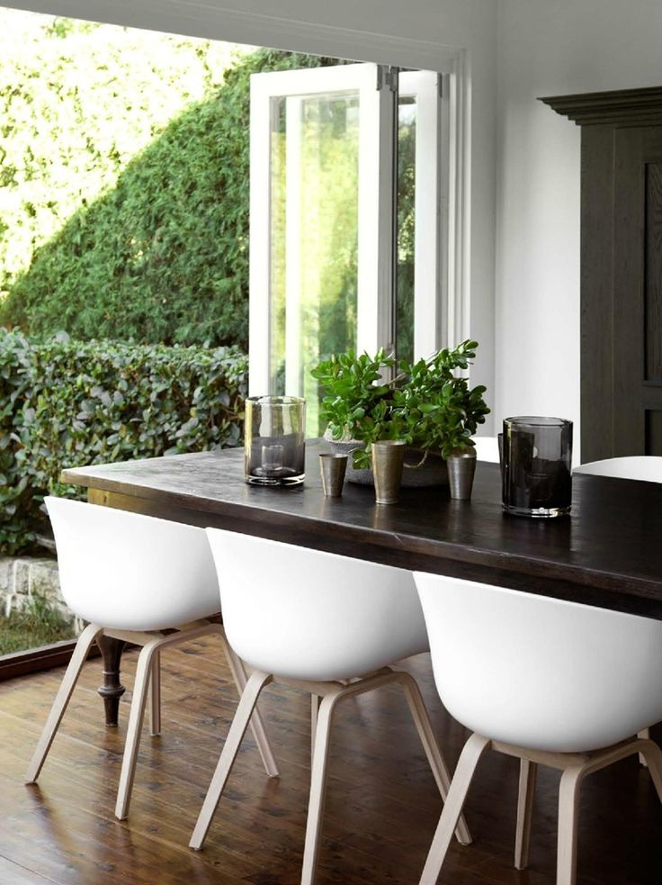 Indoor - outdoor dining vibe