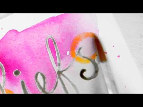 KreaDoe DIY Maak kaart persoonlijk met waterverf - YouTube