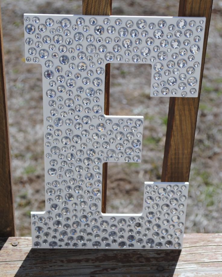Sparkle white bling decorative wall letters wedding decor for Bling decor