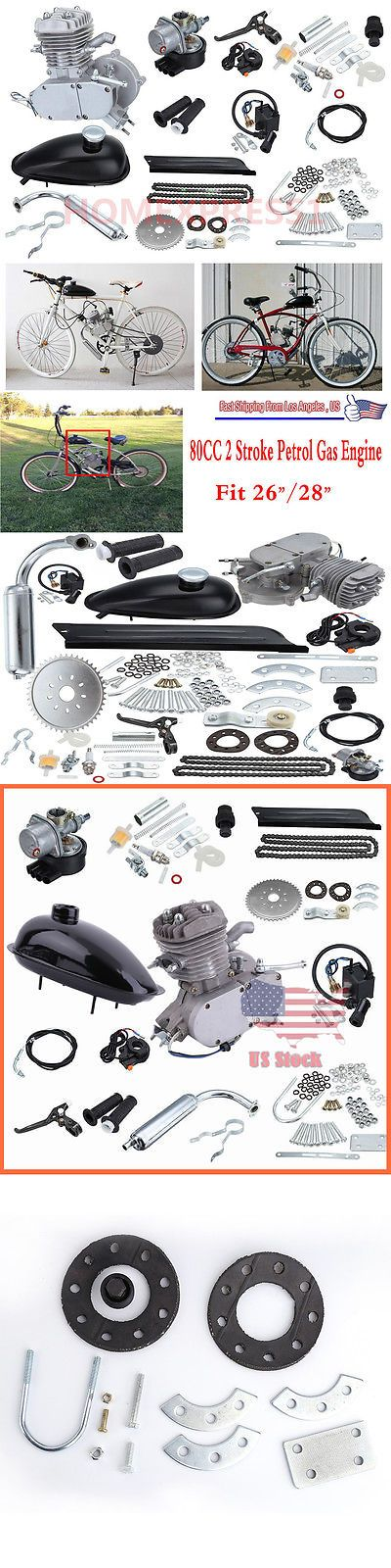 Gas Scooters 75211: 80Cc 2 Stroke Cdi Motorized Motor Engine Full Kit Fit 28 Bicycle Bike Sliver Hl -> BUY IT NOW ONLY: $97.95 on eBay!