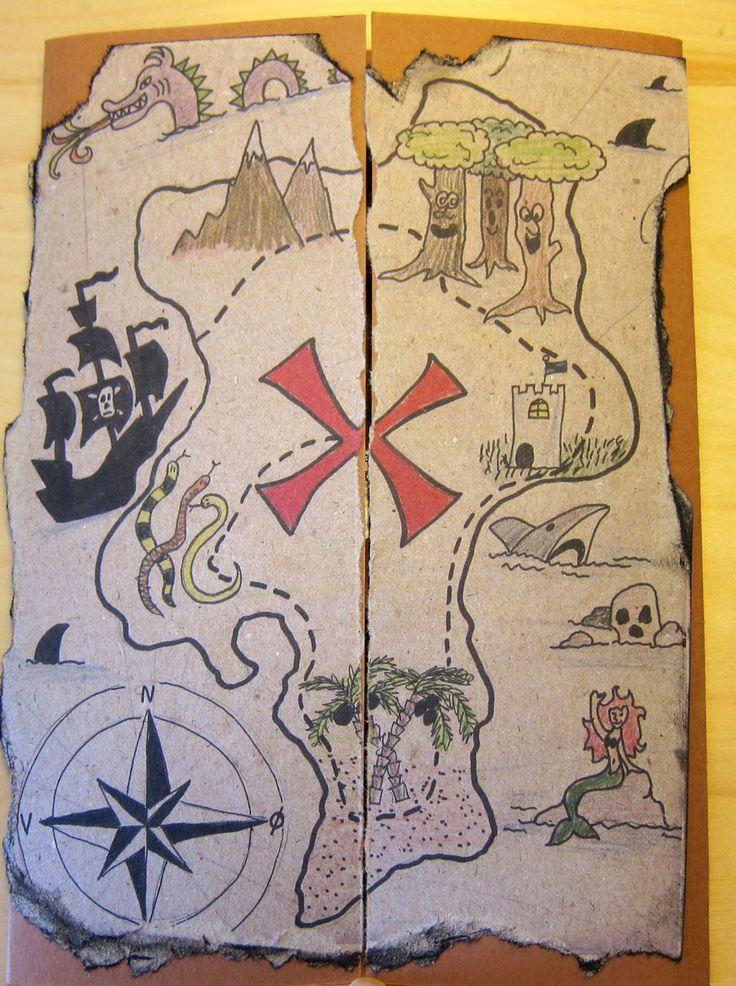 DIY kort: Pirat skattekort