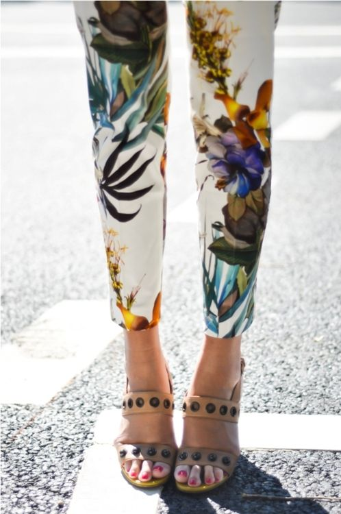 Floral pants. Beautiful