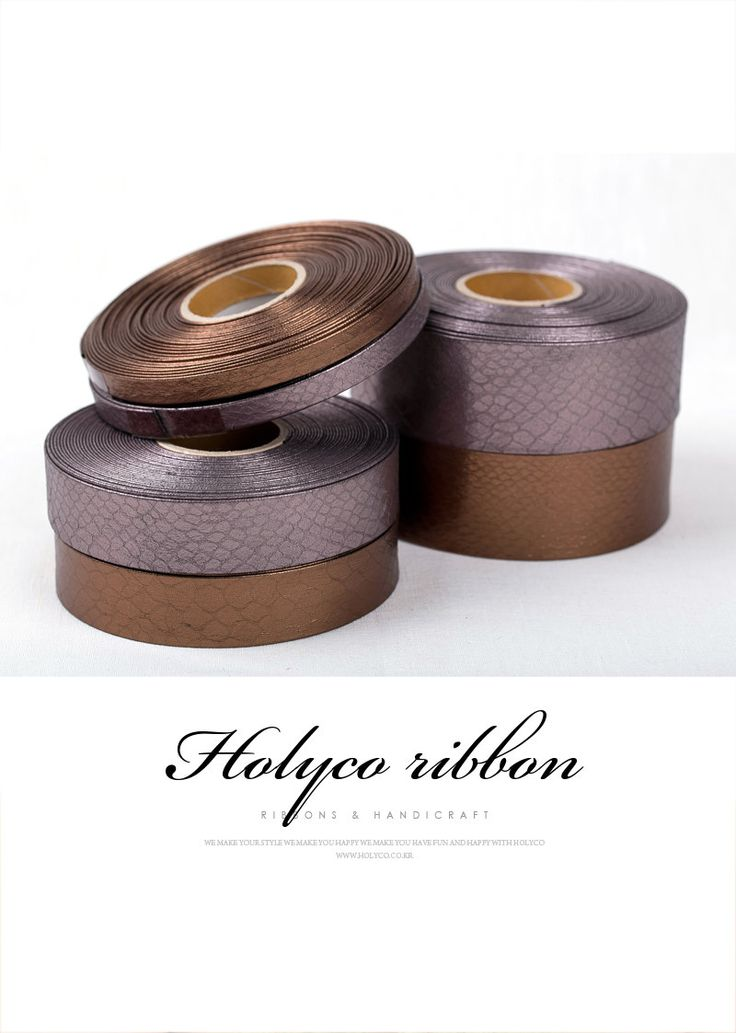 "Toriya Enameled Faux Leather Fabric Ribbon / 3/8""(10mm), 1""(25mm), 1.5""(40mm) / made in Korea by HOLYCO on Etsy"