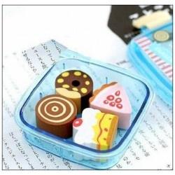 Set mini Lunch box 4 gommes gateaux