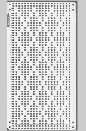 Knitmaster HK160/MK70 18st punchcards No. 703