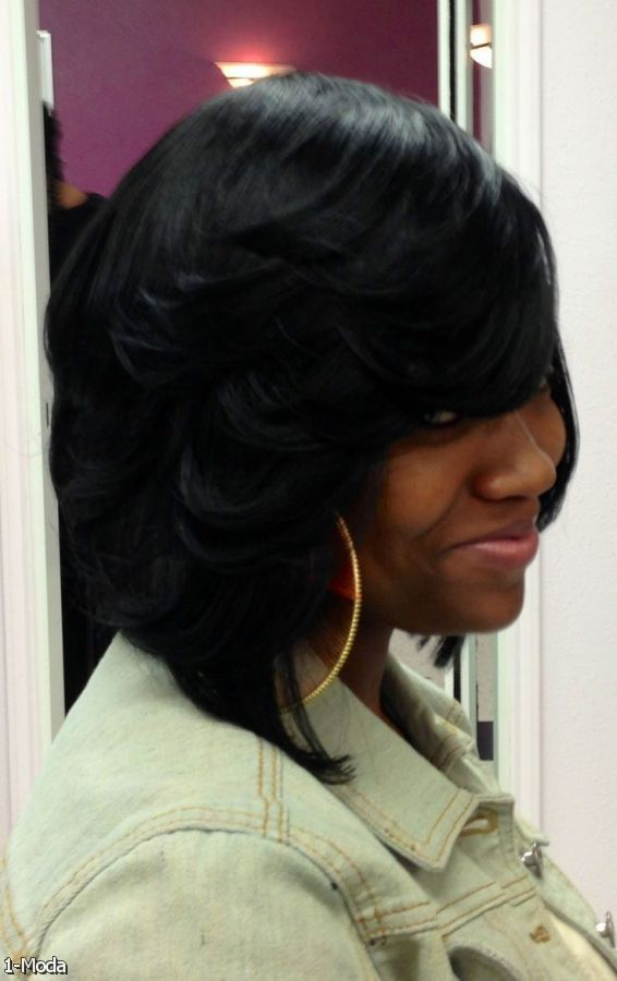 Best 25 feathered bob ideas on pinterest layered bob hairstyles feathered bob weave hairstyles 2015 2016 fashion trends 2014 2015 african american feathered bob hairstyles 566x900 pmusecretfo Image collections