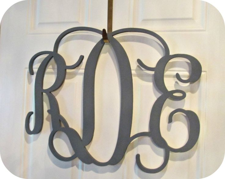 "3 Letter Monogram 15"" Wood Initials Nursery Art Monogram Letters Personalized Wood Initial Hanging Initials Hanging Monogram Door Wreath by OnceUponAHomeDesigns on Etsy"