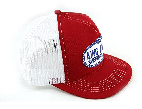King Ropes Base Ball Caps By Kings Saddlery - New Colors, Different Styles (Red/White): PLEASE NOTE* - These are 100% authentic. In no way is Southwestern Equine advertising a fake hat. We are sorry the reviews say other wise, but these are REAL King Rope hats. If you order your hat from Southwestern Equine it's an authorized King Ropes Hat/b/p Yes, these are the incredibly popular hats worn by County Music Superstars, TV Actors and their Model Girlfriends, Rodeo Cowboys, your ranche...