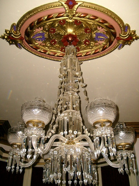 Chandelier And Plaster Ceiling Medallion By Wickedlittlethings