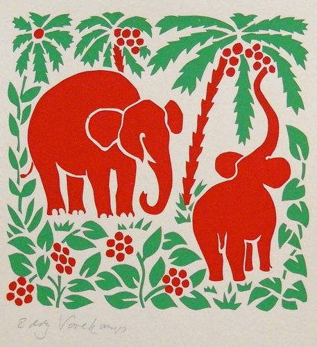 Elephants - Stencilprint