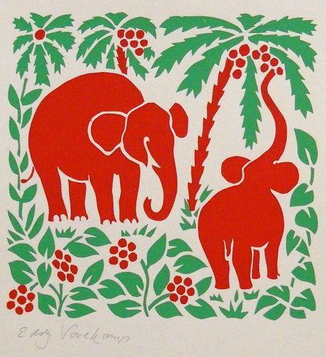 Elephants - Stencilprint