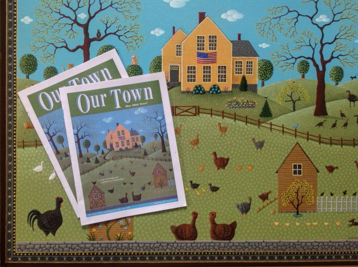 Free Range makes it to the cover of Our Town magazine. Painting by Don Cadoret © 2015