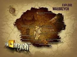 WAubrzych map - #ExploreWaubrzych campaign connected to mysteries in Wałbrzych city region
