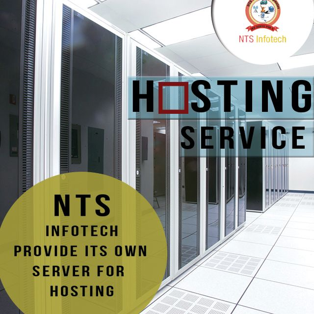 NTS INFOTECH provide its own server for hosting.Please visit us- www.ntsinfotechindia.com
