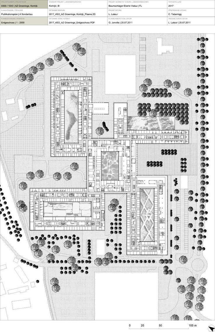 Private hospital room plan - Hospital Az Groeninge Baumschlager Eberle Osar Architects
