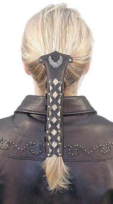 leather hair wrap instructions