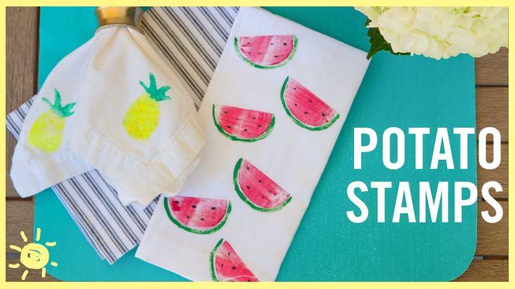 DIY   How to Make Potato Stamps - YouTube