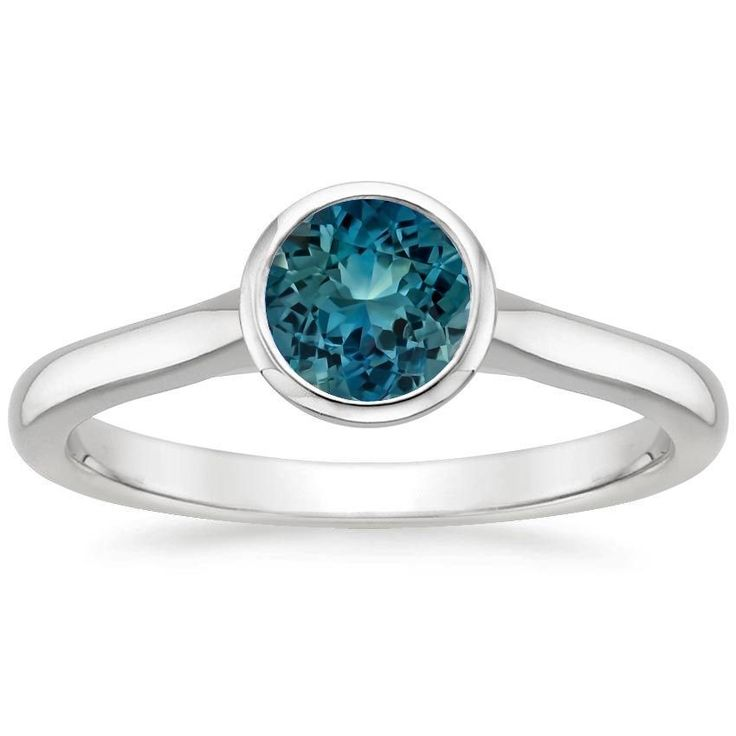 18K White Gold Sapphire Luna Ring from Brilliant Earth