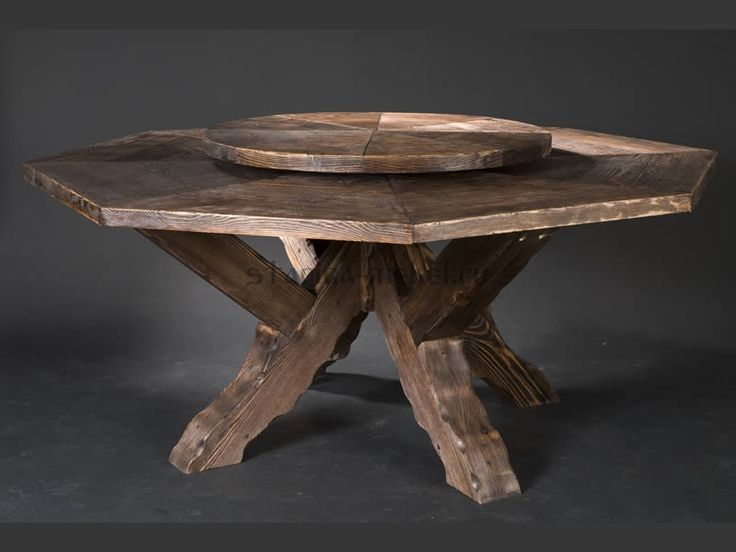 Купить крутящийся стол из массива сосны под старинку. диаметр 1600 мм