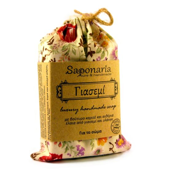 Jasmine soap with sensual aroma from essential oils of jasmine and ylang-ylang