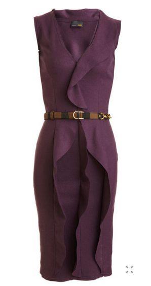 Fendi Purple Ruffle Front Dress