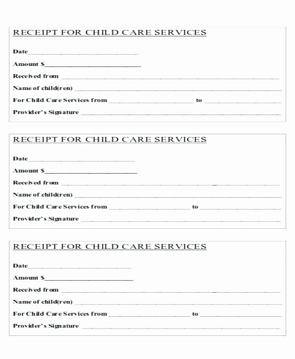 Child Care Payment Receipt Awesome Child Care Tax Receipt Template Receipt Template Balance Sheet Template Business Template
