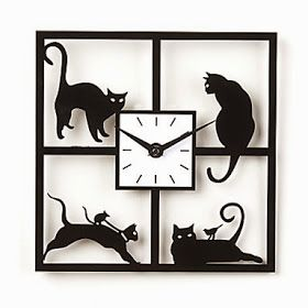 Reloj de pared Gatos Traviesos