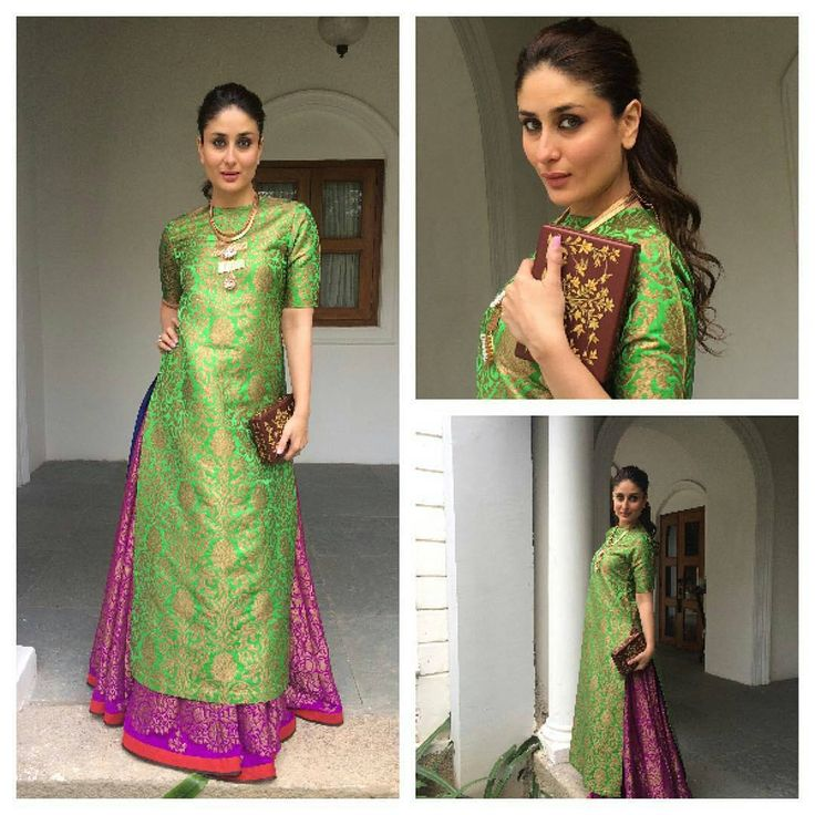 """""""Kareena Kapoor Ready for the international children's film festival in Hyderabad. @BOLLYWOODSTYLEFILE  OUTFIT- @payalkhandwala  CLUTCH-@anitadongre .…"""""""